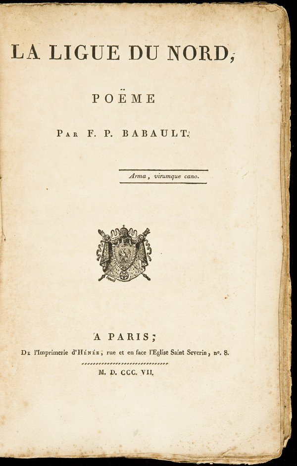6: The Northern League, poem in French by FP Babault