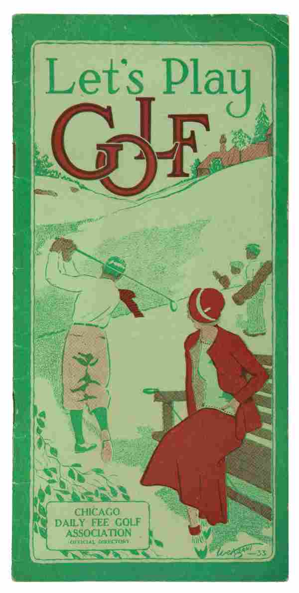 Let's Play Golf brochure Chicago 1933