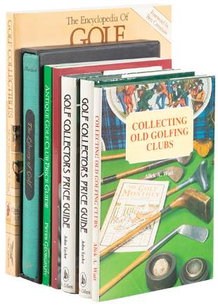 Six books on golf collecting