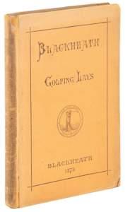 Murdoch's copy of Blackheath Golfing Lays 1873