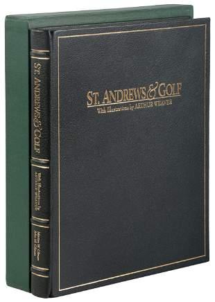 Olman St. Andrews & Golf signed limited book