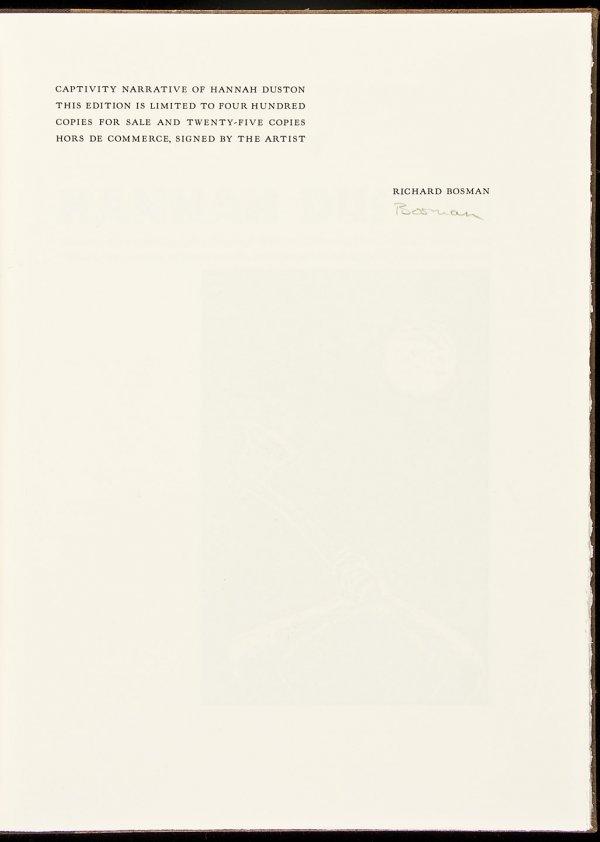 9: Arion Press Narrative of Hannah Duston 1/425