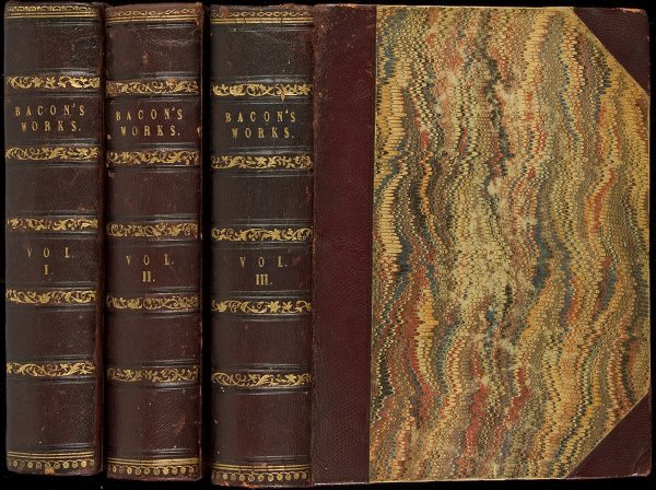 20: Works of Francis Bacon 1733 in 3 volumes