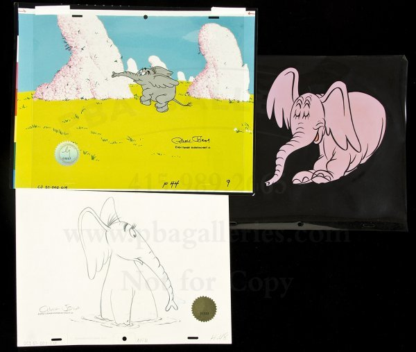 3: 3 animation cels Horton Hears a Who by C. Jones
