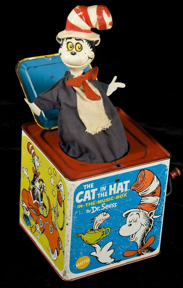 5: Cat in the Hat - jack-in-the-box Mattel 1970