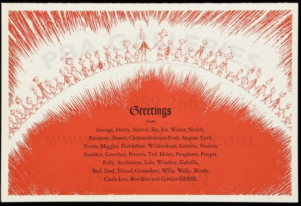 8: Large Greetings card, from Theo Geisel/Dr. Seuss