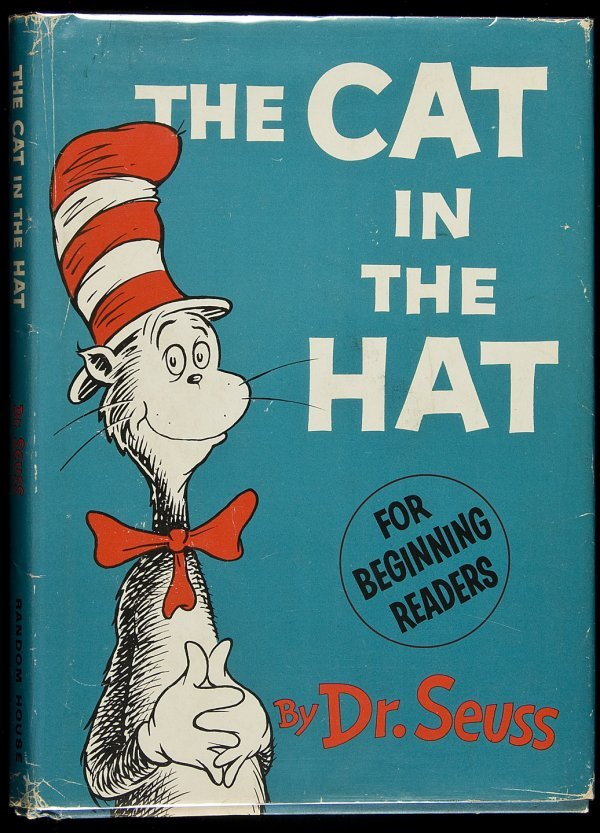 17: Cat in the Hat 1st in a dust jacket Dr. Seuss