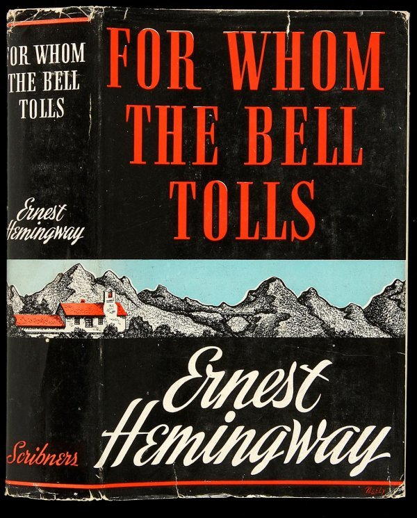 119: For Whom the Bell Tolls in first issue dj, 1st ed