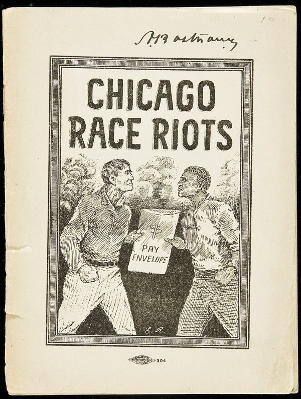 8: Chicago Race Riots rare pamphlet 1919