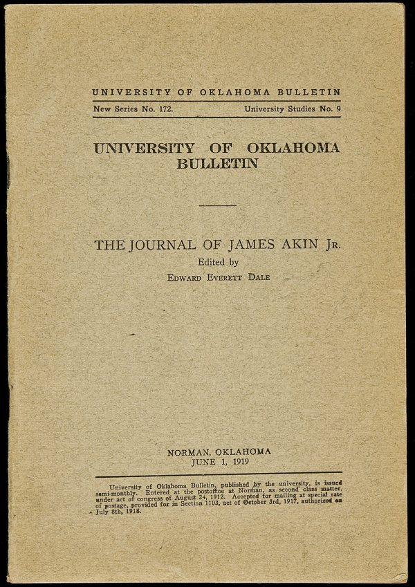 9: The Journal of James Akin, Jr.