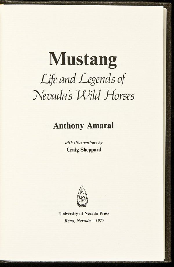 13: Mustang: Life and Legends of Nevada's Wild Horses