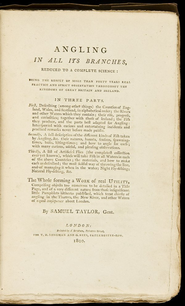 18: Samuel Taylor Angling 1800 1st Edition