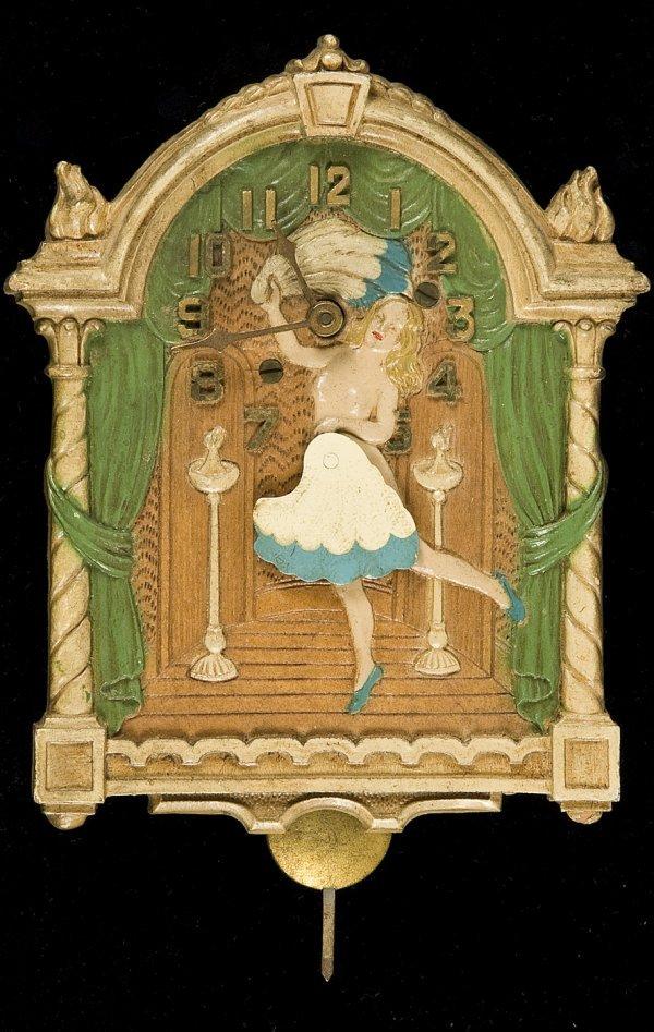 379: Fan Dancer clock of Sally Rand Lux Clock 1933