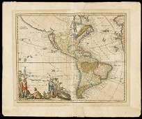487 Weigel map of Americas Calif and island