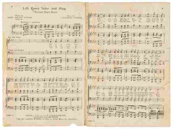 Early printing of the Negro National Hymn