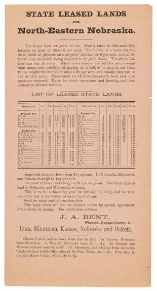 Plains land for sale in 1888