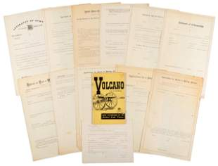 Blank application forms for mining claims, 1870's