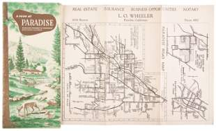 Paradise, Calif., brochure with map, c.1955