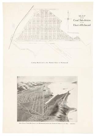 Richmond CA real estate map & view c1910