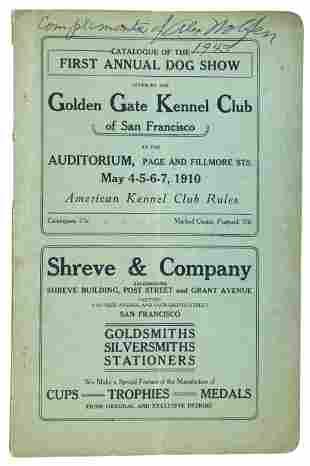 Premier dog show in San Francisco 1910