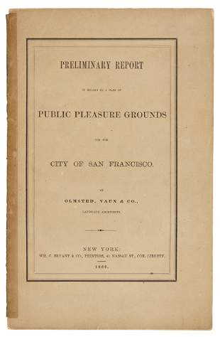 Frederick Law Olmsted has plan for S.F. park