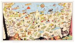 Santa Cruz County cartoon map 1930s