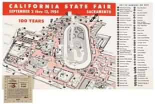1954 California State Fair map
