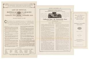 Three 1927 pamphlets from the California Auto Club