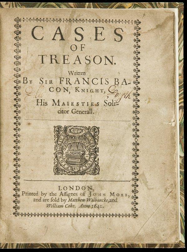 2: Francis Bacon of Treason 1641