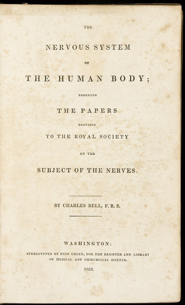 8: Bell on the Nervous System 1833