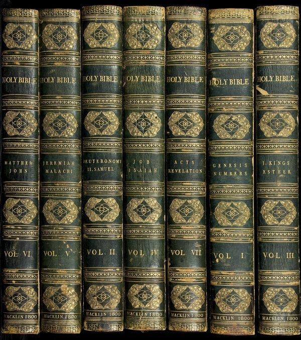 13: Massive Macklin Bible in 7 Volumes