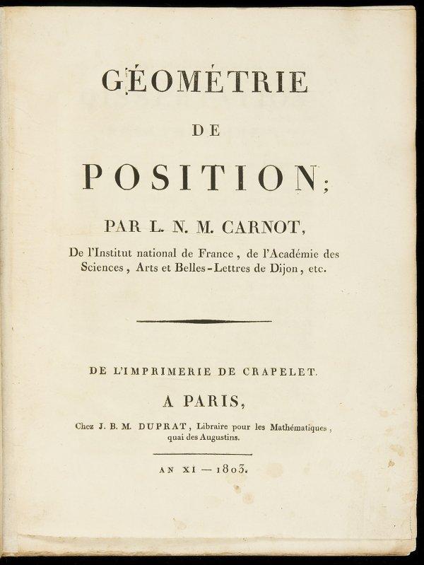 19: Carnot Géométrie de Position 1803