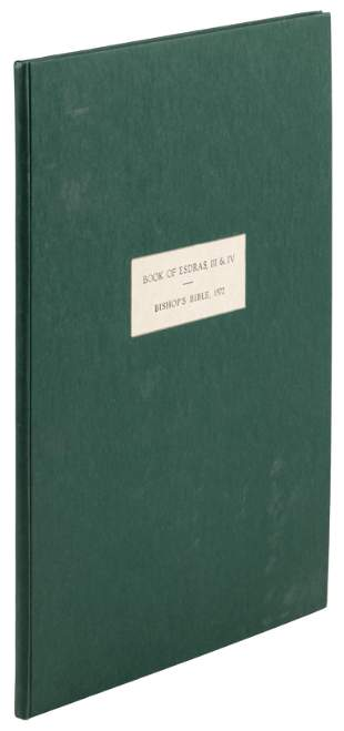 Book of Esdras 3&4, 1572 folio Bishops Bible