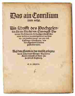 German pamphlet on Council of Constance, 1537