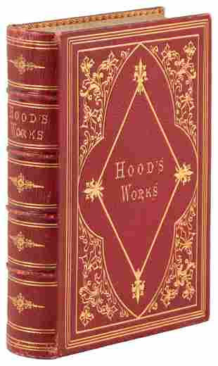 The Poetry of Hood w/ split fore-edge painting