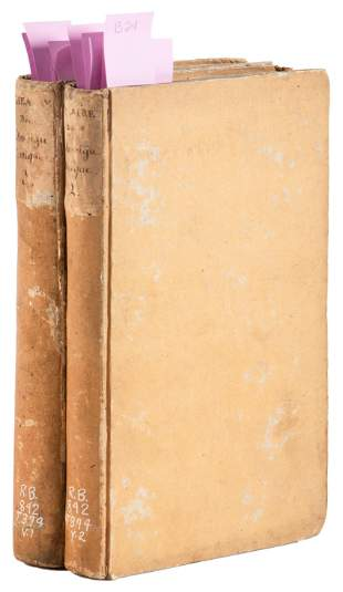 2 volumes of Consulate era French Theatre