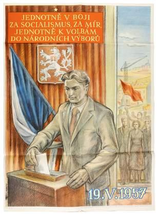 Four Czechoslovakian posters
