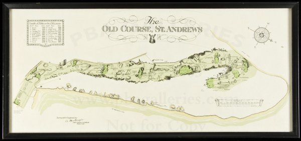 332: The Old Course, St. Andrews by A. Mackenzie, map
