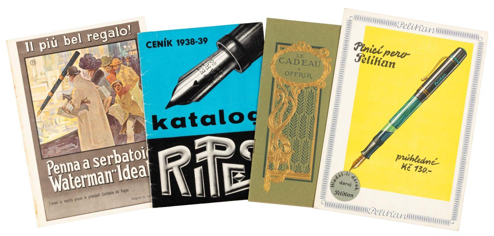 Lot of 14 Vintage Pen Catalogues & Brochures
