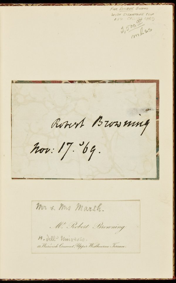 13: Poems of Browning with autograph