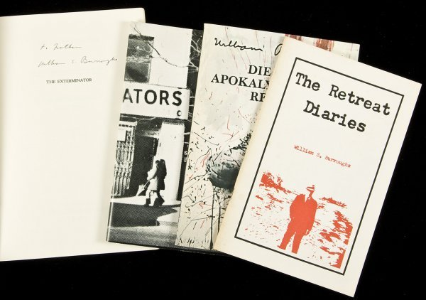16: Four titles by William S. Burroughs - One signed