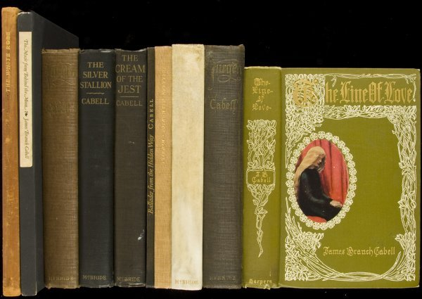 17: 9 volumes by James Branch Cabell, and one about