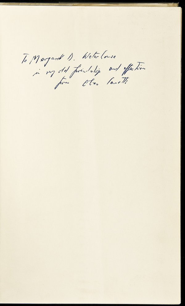 20: Crowds & Power signed by Elias Canetti 1st in dj