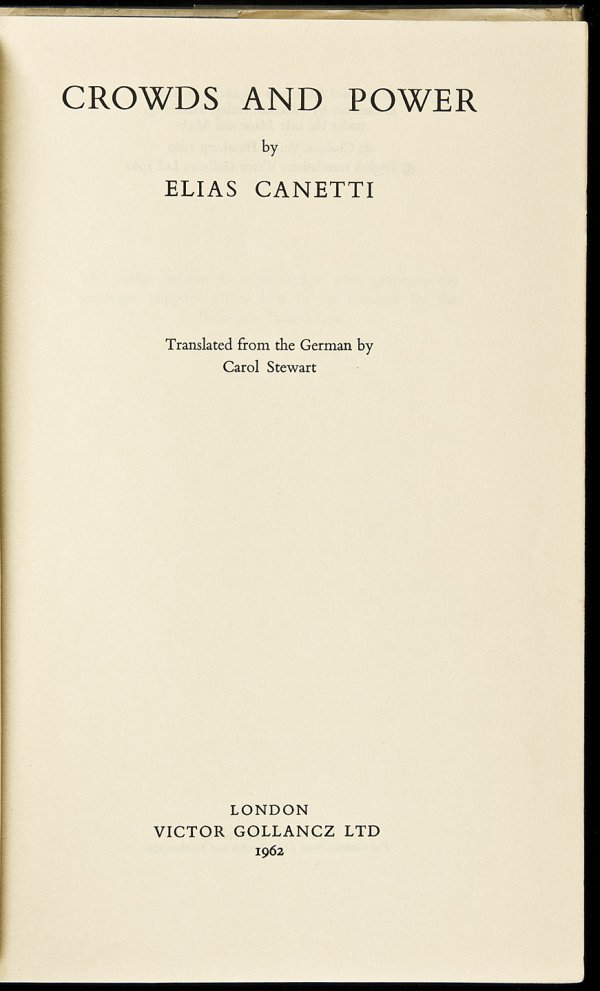 20: Crowds & Power signed by Elias Canetti 1st in dj - 3
