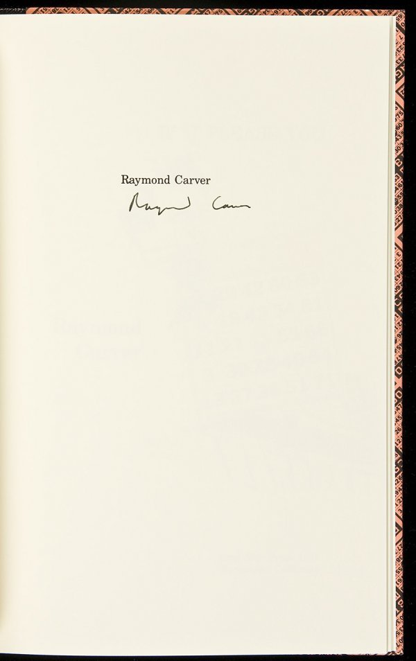 21: If It Please You sgnd Raymond Carver-Lord John