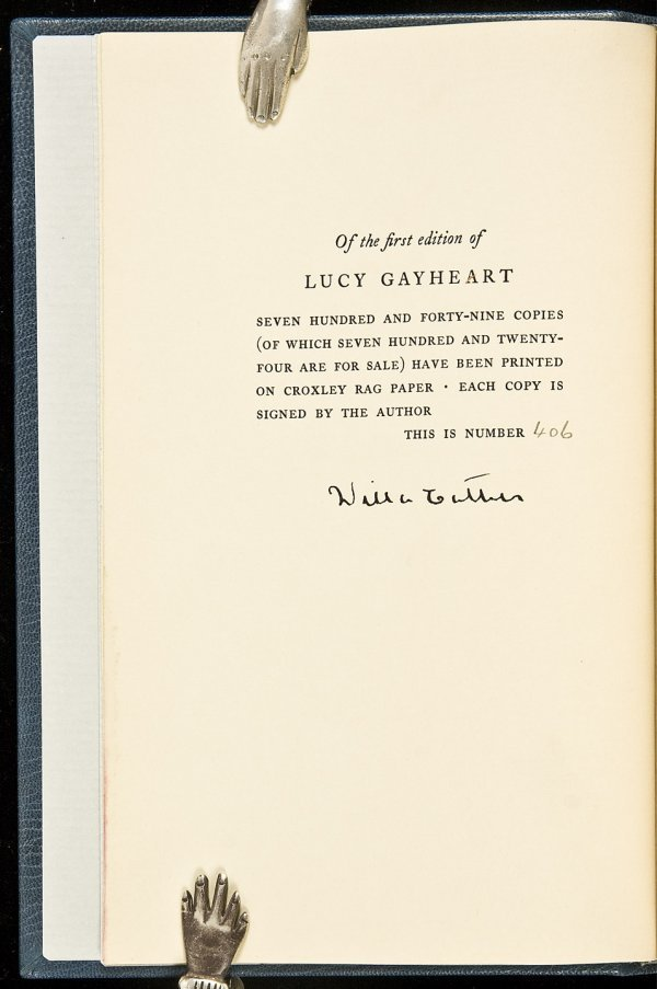 23: Willa Cather Lucy Gayheart Limited Edition