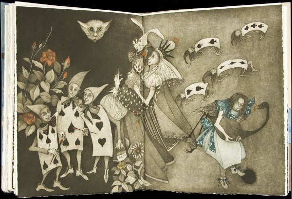 207: 1/25 edition Alice in Wonderland orig art 2006