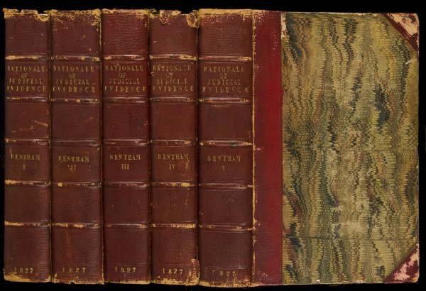 5: Bentham's Rationale of Judicial Evidence 5 vols