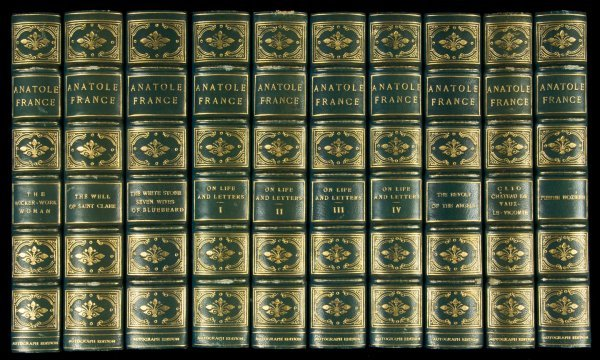 20: Works of Anatole France 30 volumes signed