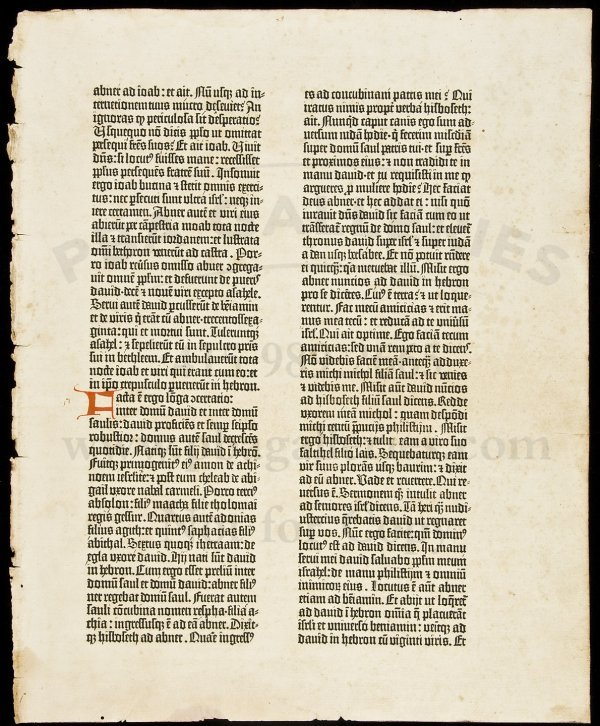 24: Original Leaf from the Gutenberg Bible